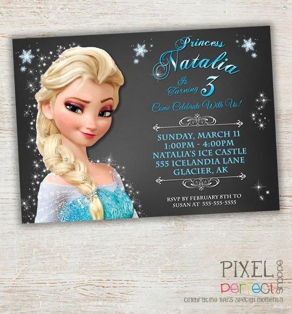 Frozen Birthday Invitations Cards Girls Frozen Birthday Invitation Frozen Birthday Party
