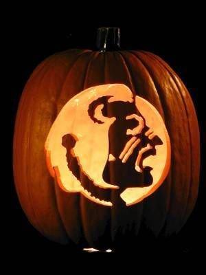 Fsu Pumpkin Carving Patterns Fsu Pumpkin Florida State & Football Season