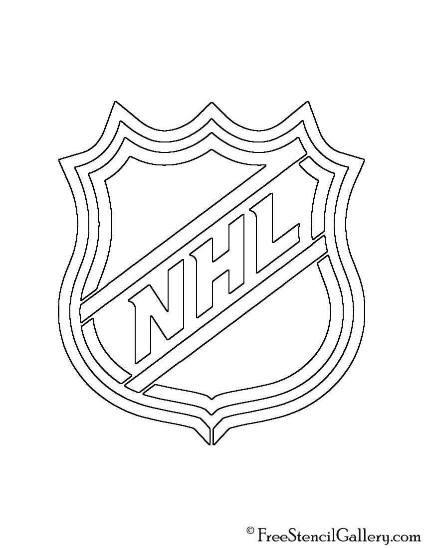 Fsu Pumpkin Carving Patterns Nhl Logo Stencil