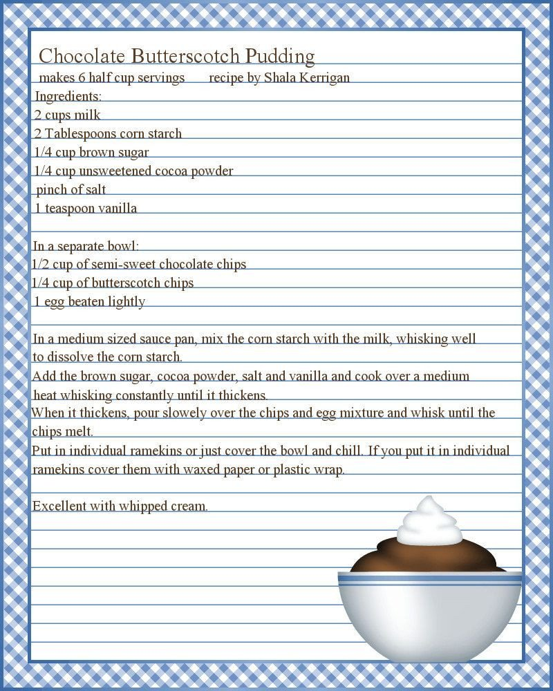 Full Page Recipe Template Editable Full Page Recipe Templates Google Search
