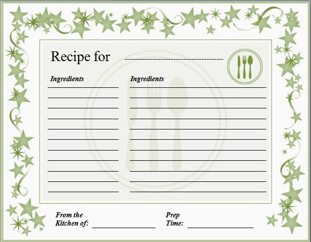 Full Page Recipe Template Editable How to Make Fancy Recipe Cards Using Microsoft Word Using