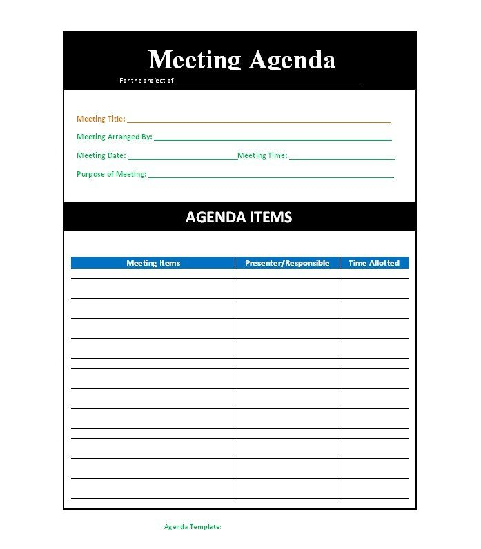 Fun Meeting Agenda Template 46 Effective Meeting Agenda Templates Template Lab