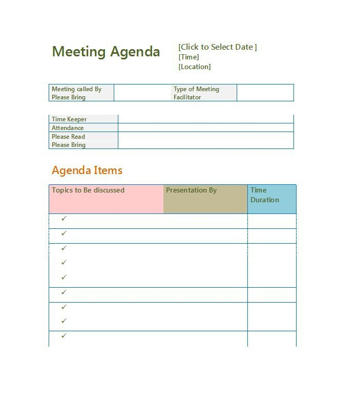 Fun Meeting Agenda Template 51 Effective Meeting Agenda Templates Free Template