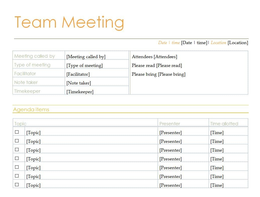 Fun Meeting Agenda Template Best S Of Work Meeting Agenda Template Fun Meeting