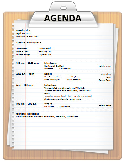 Fun Meeting Agenda Template Meeting Agenda Templates 3 Free Templates Word Templates