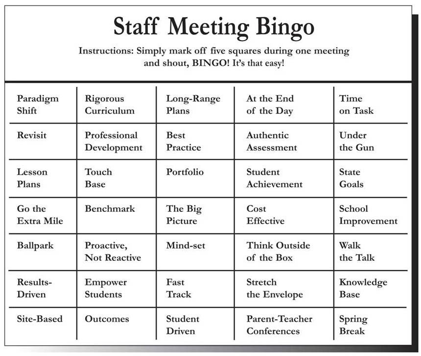 Fun Meeting Agenda Template Staff Meeting Ideas