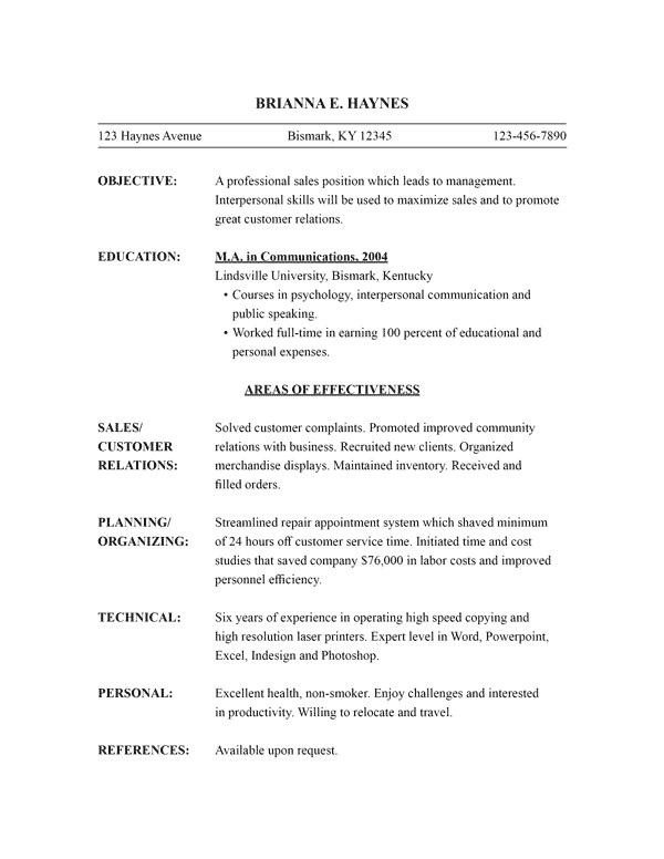 Functional Resume Templates Word Free Resume Templates