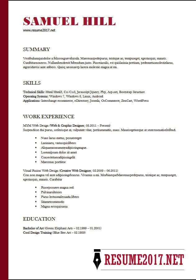 Functional Resume Templates Word Resume format 2018 16 Latest Templates In Word