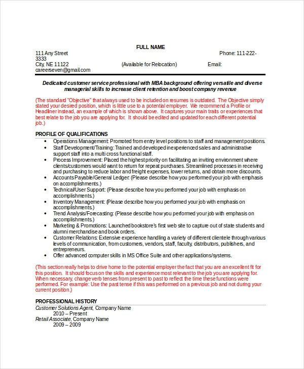 Functional Resume Templates Word Resume Template Word 10 Free Word Documents Download