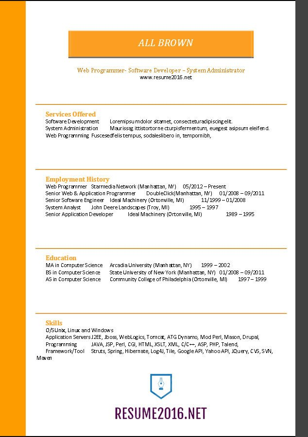 Functional Resume Templates Word Word Resume Templates 2016