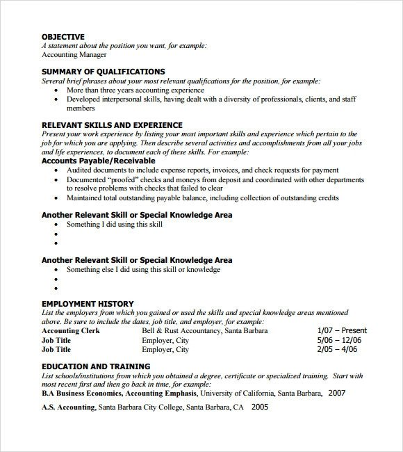 Functional Resumes Templates Free Sample Functional Resume 5 Documents In Pdf