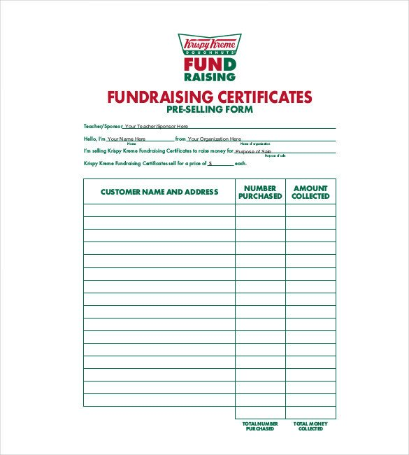 Fundraising order form Templates 20 order Template Word Excel Pdf
