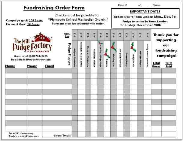 Fundraising order form Templates Fundraiser order Templates Word Excel Samples