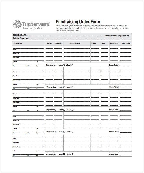 Fundraising order form Templates order form Template 23 Download Free Documents In Pdf