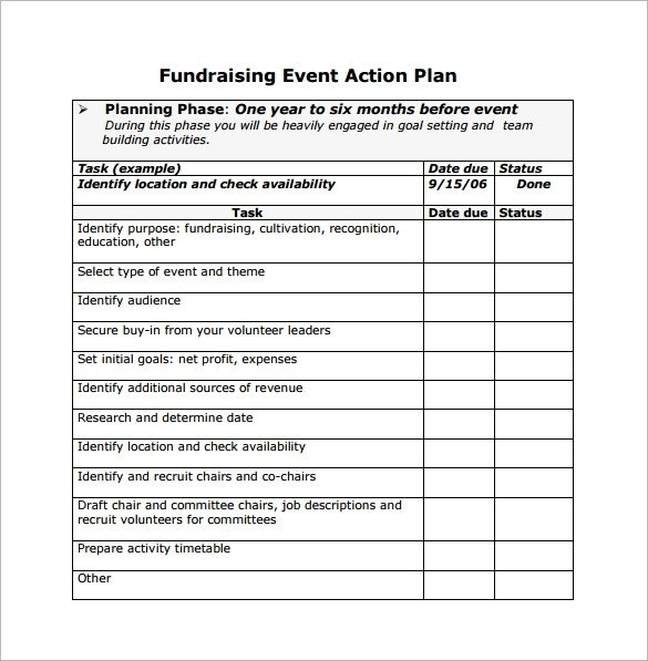 Fundraising Plan Template Excel event Planning Template 11 Free Documents In Word Pdf Ppt