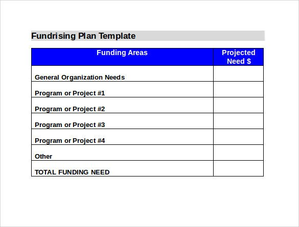 Fundraising Plan Template Word Sample Fundraising Plan 11 Documents In Word Pdf