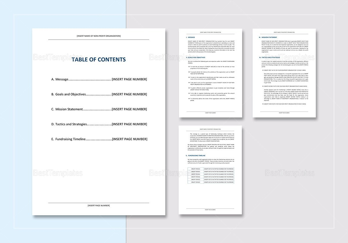 Fundraising Plan Template Word Sample Fundraising Plan Template In Word Google Docs