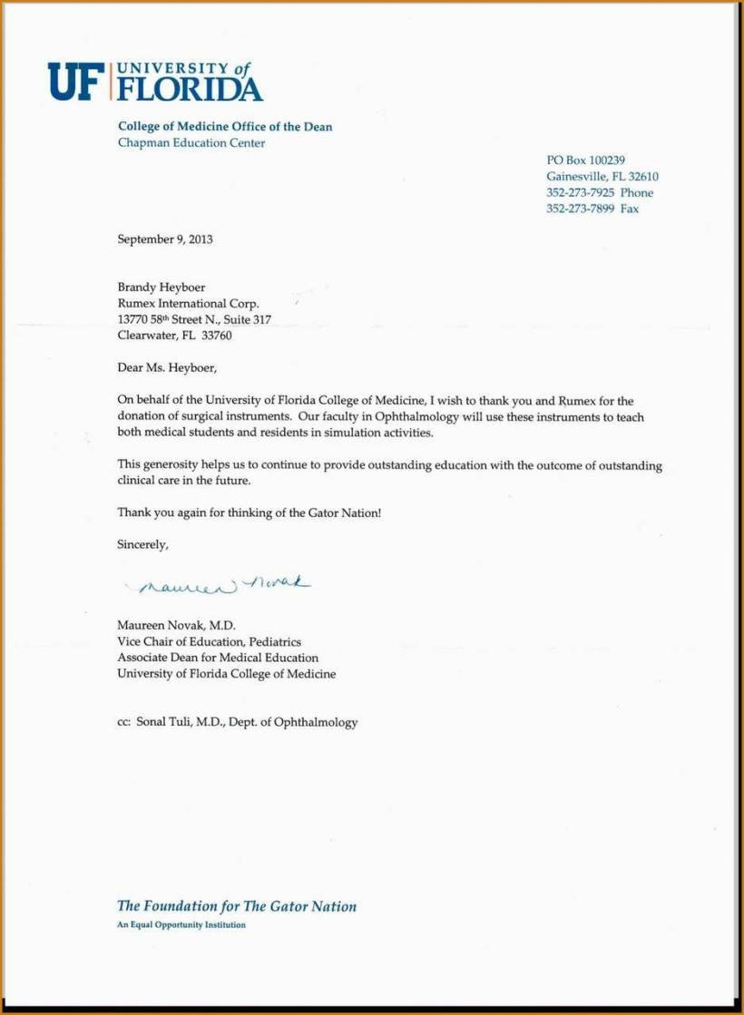Fundraising Thank You Letter 10 Church Thank You Letter for Donation