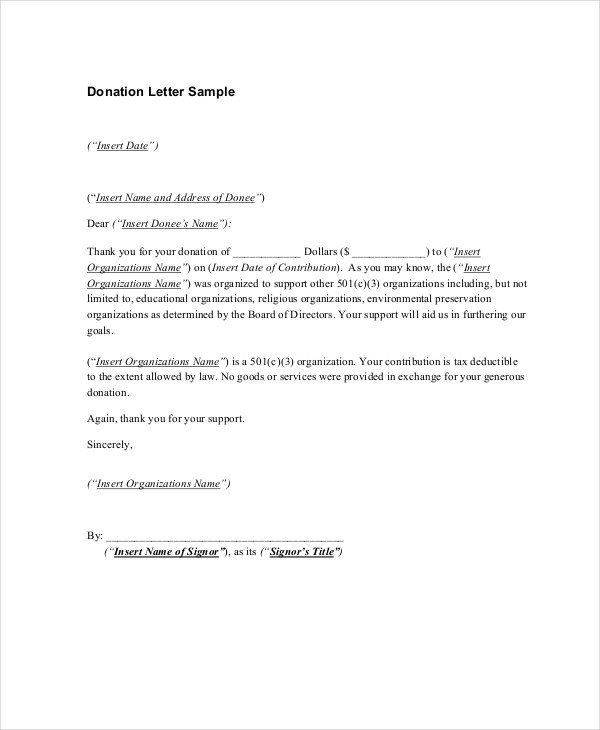 Fundraising Thank You Letter 16 Sample Thank You Letters for Donations Doc Pdf