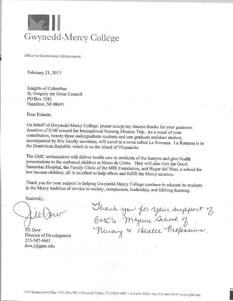 Fundraising Thank You Letter Heartfelt Thank You Letter for Donation Letter