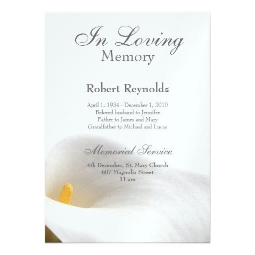 Funeral Announcement Template Free 26 Of Sample Funeral Announcements Template