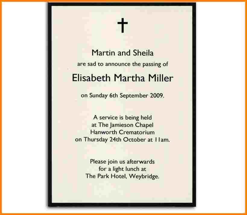 Funeral Announcement Template Free 5 Funeral Announcement Templates