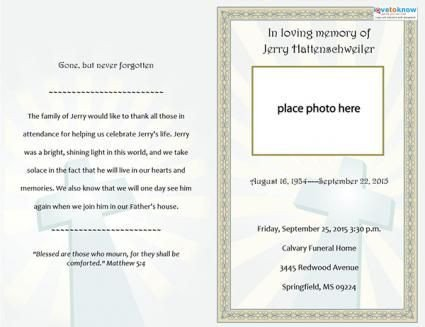 Funeral Announcement Template Free Free Printable Funeral Program Templates