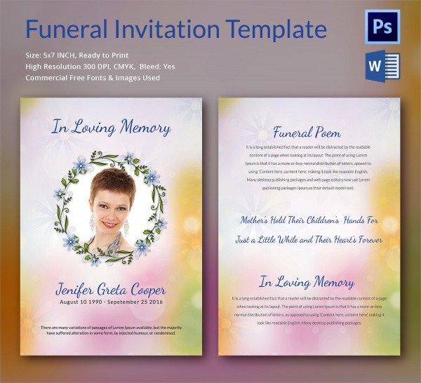 Funeral Announcement Template Free Sample Funeral Invitation Template 11 Documents In Word