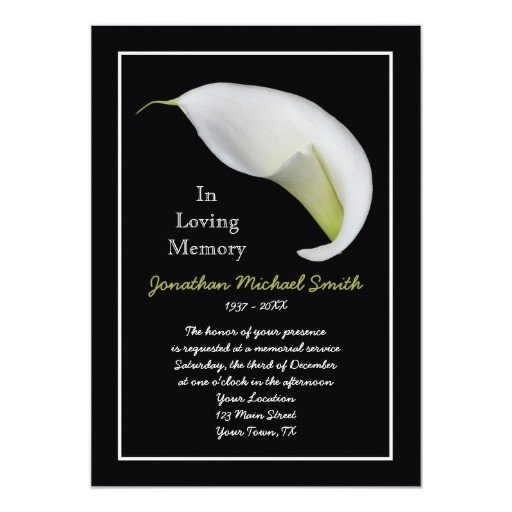Funeral Invitation Template Free Memorial Service Invitation Announcement Template