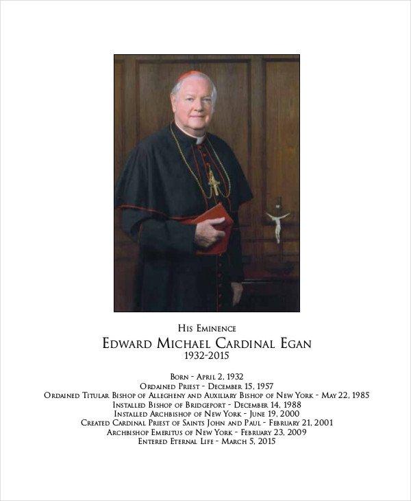 Funeral Mass Program Template 17 Funeral Program Templates
