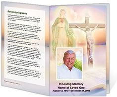 Funeral Mass Program Template 217 Best Creative Memorials with Funeral Program Templates