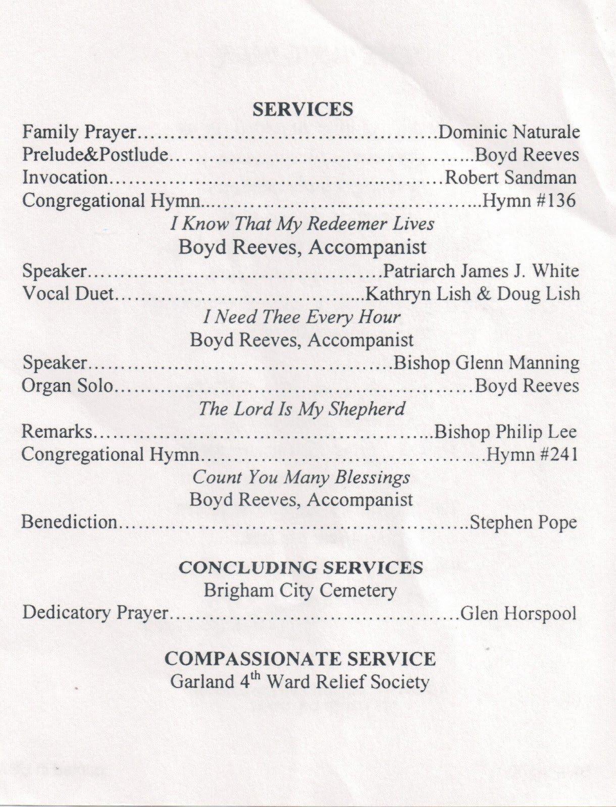 Funeral Mass Program Template Baptism Program Template