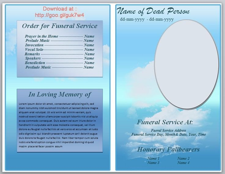 Funeral Pamphlet Template Free 73 Best Printable Funeral Program Templates Images On