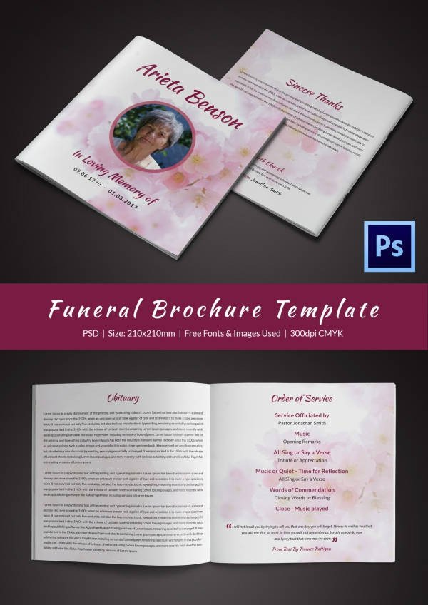 Funeral Pamphlet Template Free Funeral Program Template 23 Free Word Pdf Psd format