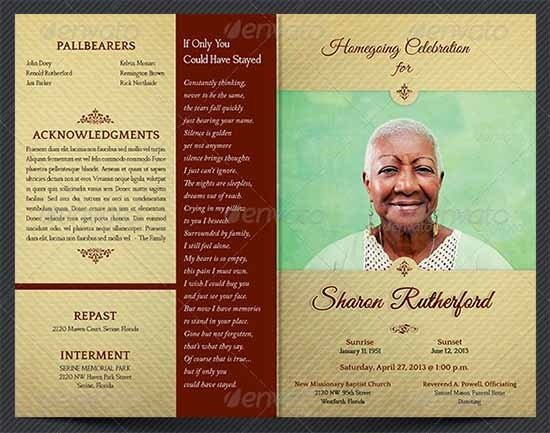 Funeral Pamphlet Template Free Funeral Program Template 30 Download Free Documents In