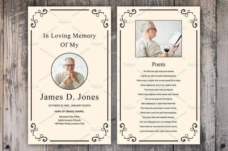 Funeral Prayer Cards Templates 12 Personalized Memorial Card Designs and Templates Psd