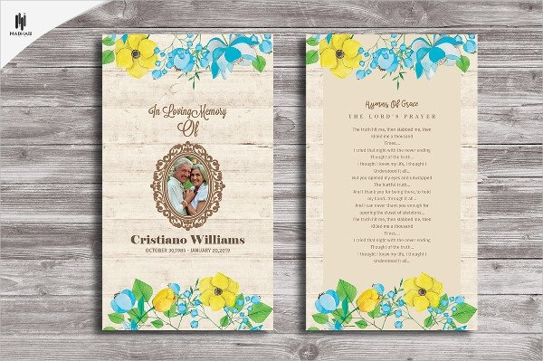 Funeral Prayer Cards Templates 17 Funeral Card Templates Psd Ai
