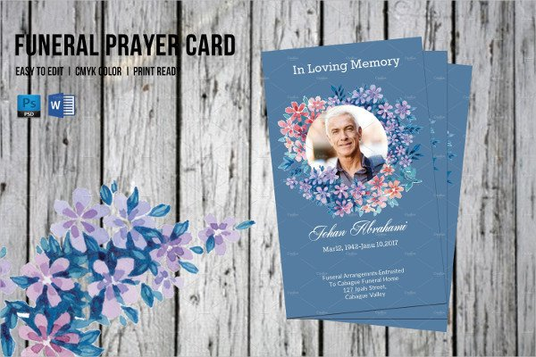 Funeral Prayer Cards Templates Funeral Prayer Card Template 21 Psd Ai Eps format