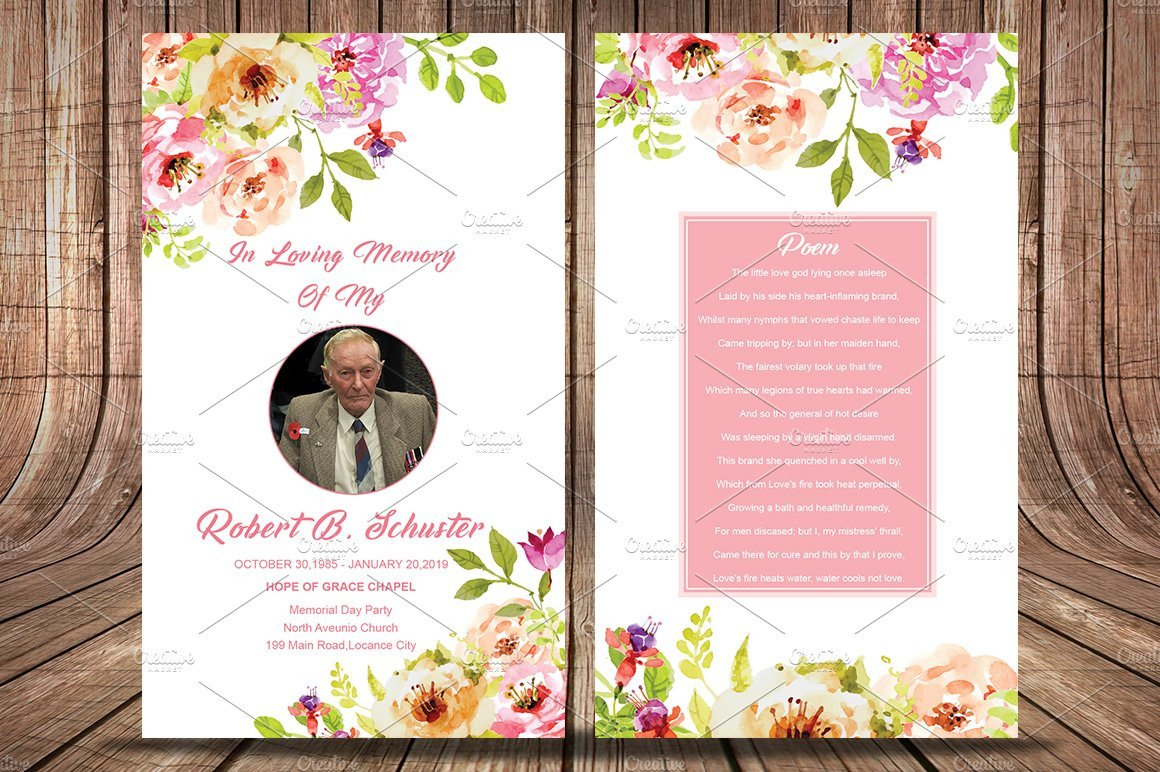 Funeral Prayer Cards Templates Funeral Prayer Card Template Card Templates Creative