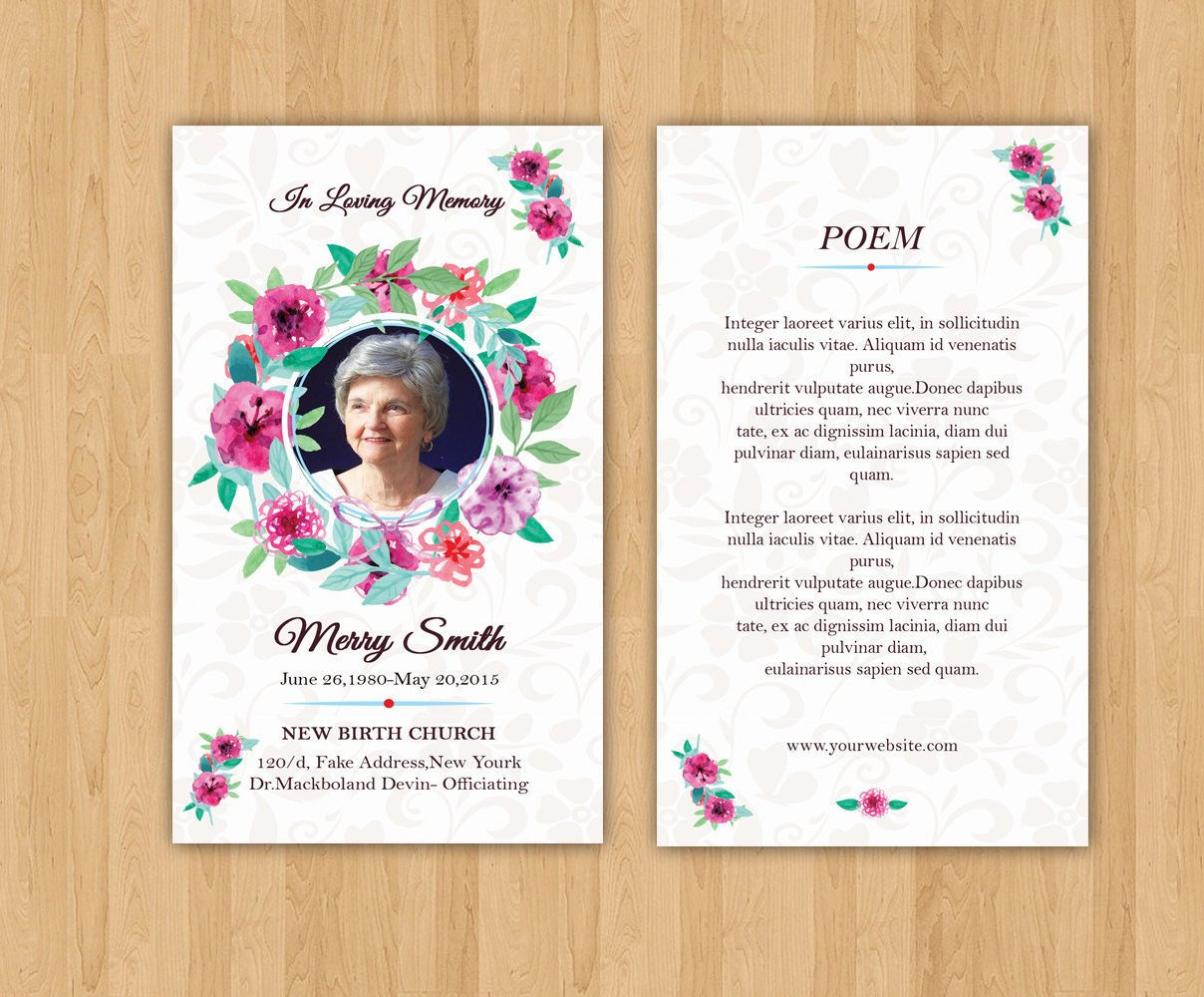 Funeral Prayer Cards Templates Funeral Prayer Card Template Editable Ms Word & Shop