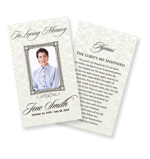 Funeral Prayer Cards Templates Funeral Prayer Cards Examples