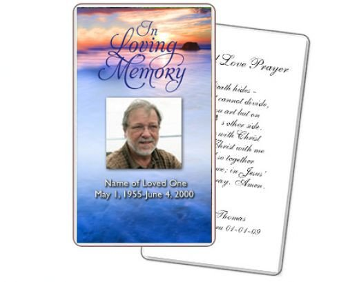 Funeral Prayer Cards Templates Memorial Card Quotes for Funerals Quotesgram
