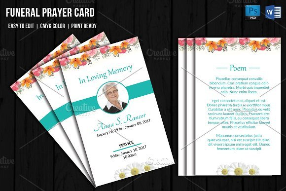 Funeral Prayer Cards Templates Prayer Breakfast Program Black Church Designtube