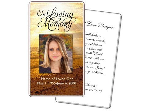 Funeral Prayer Cards Templates Prayer Cards Shine Prayer Card Templates