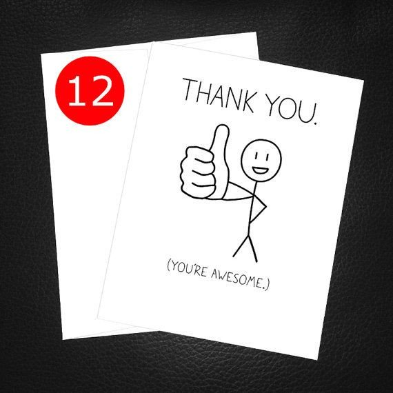 Funny Thank You Notes Best 25 Funny Thank You Cards Ideas On Pinterest