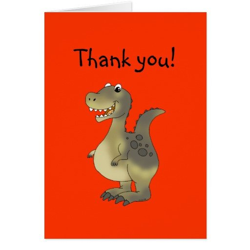Funny Thank You Notes Funny Dinosaur Thank You Note Card