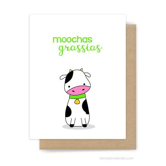 Funny Thank You Notes Funny Thank You Card for Friend Her Him Thanks Notes