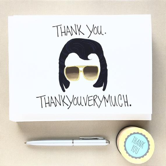 Funny Thank You Notes Funny Thank You Notes Set Thank You Note by Debbiedrawsfunny