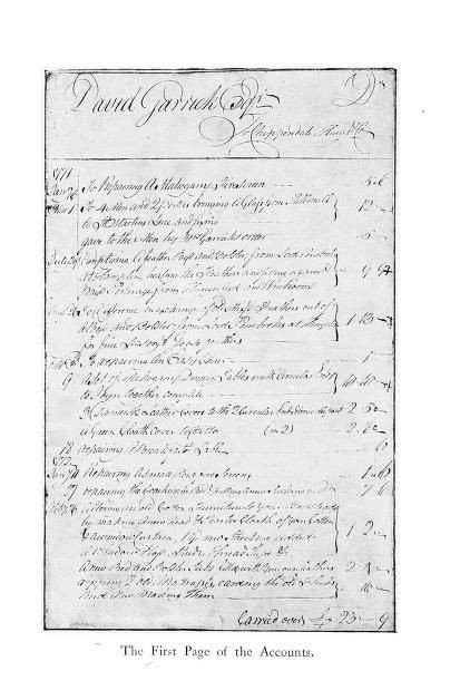 Furniture Bill Of Sale Bill Of Sale From Thomas Chippendale for Painted Furniture