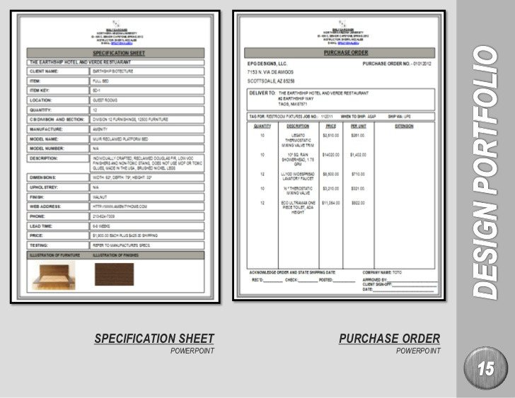Furniture Spec Sheet Template Emily Gardiner Interior Design Portfolio